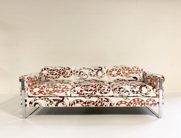 Chrome Sofa in Pierre Frey Venimeuses - FORSYTH