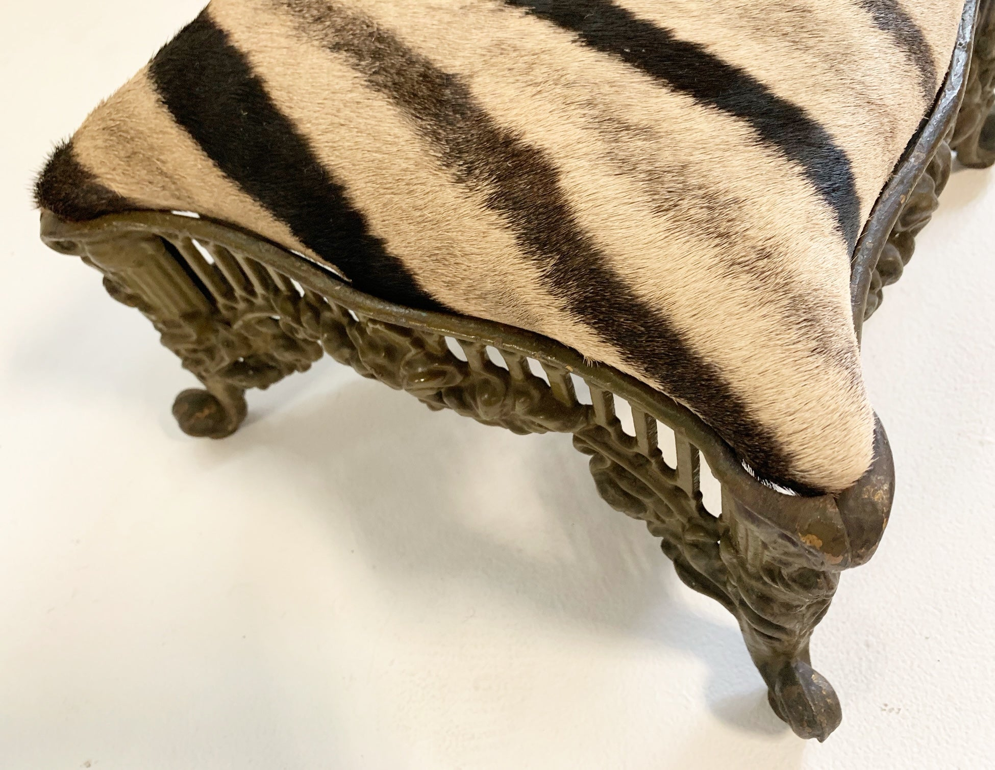Foot Stool in Zebra - FORSYTH