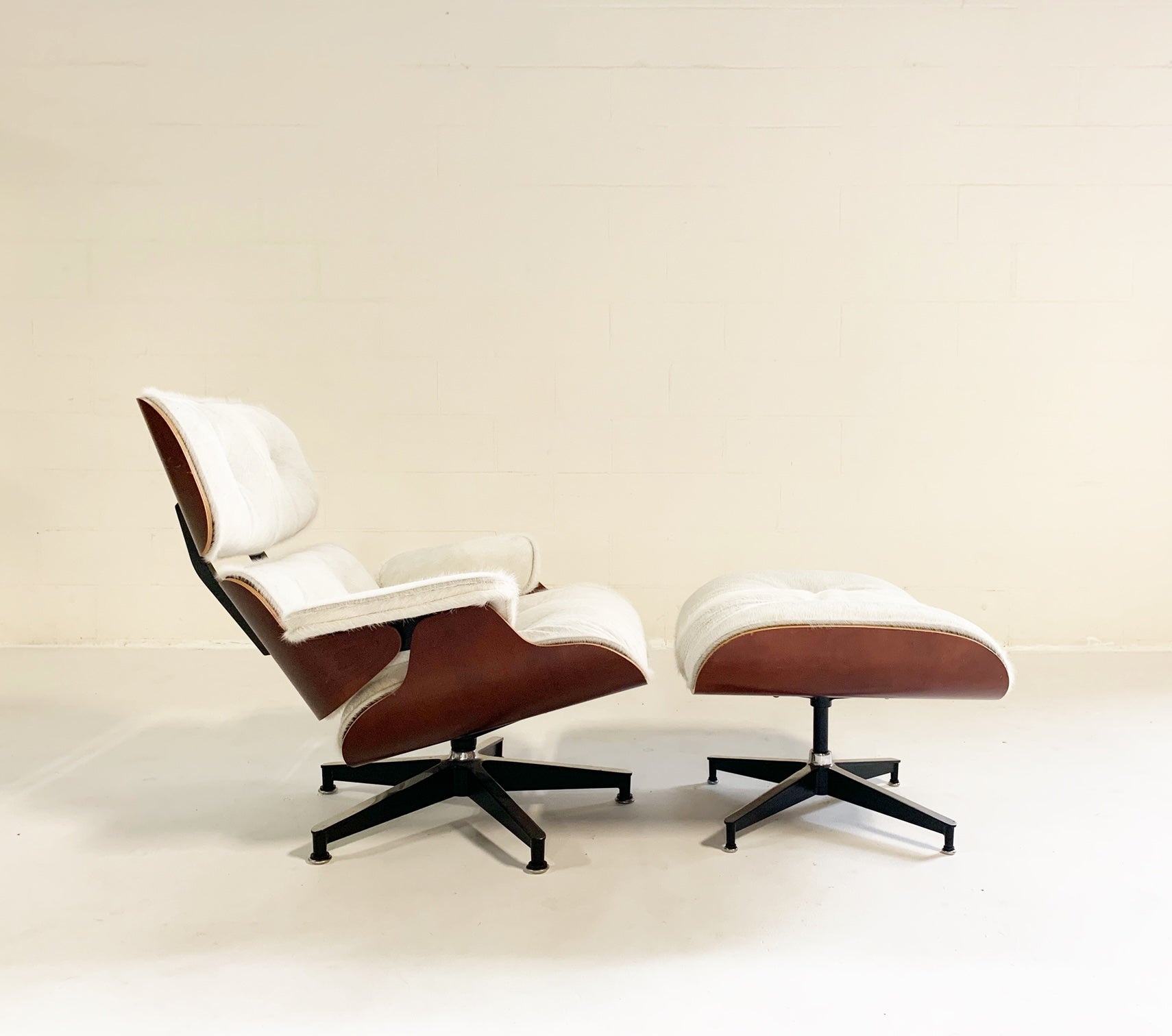 670 Lounge Chair and 671 Ottoman in Brazilian Cowhide - FORSYTH
