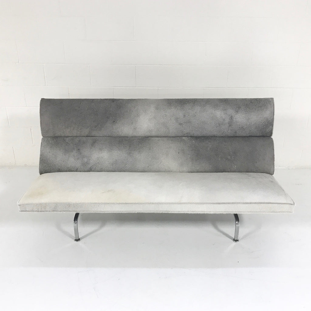 Charles & Ray Eames for Herman Miller Compact Sofa in Salt & Pepper Cowhide - FORSYTH
