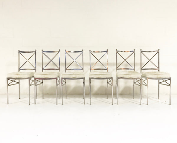 Midcentury Swedish Steel Dining Chairs, set of 10 - FORSYTH