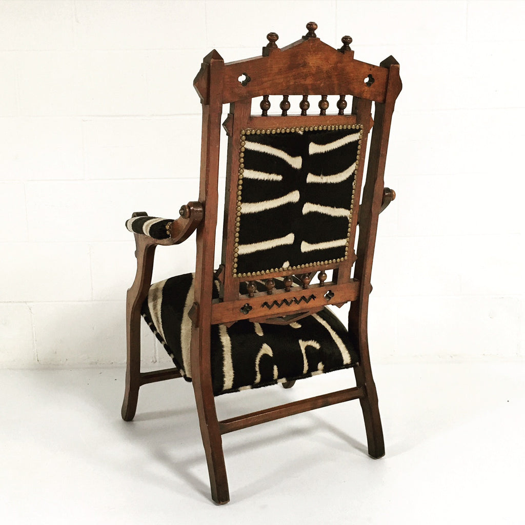 Victorian Walnut Campaign Chair - FORSYTH