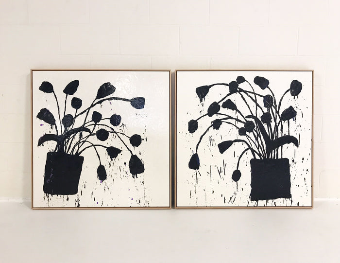 "John O'Hara. Botanical, 221. Two-Panel Work. 37x37"" - FORSYTH"