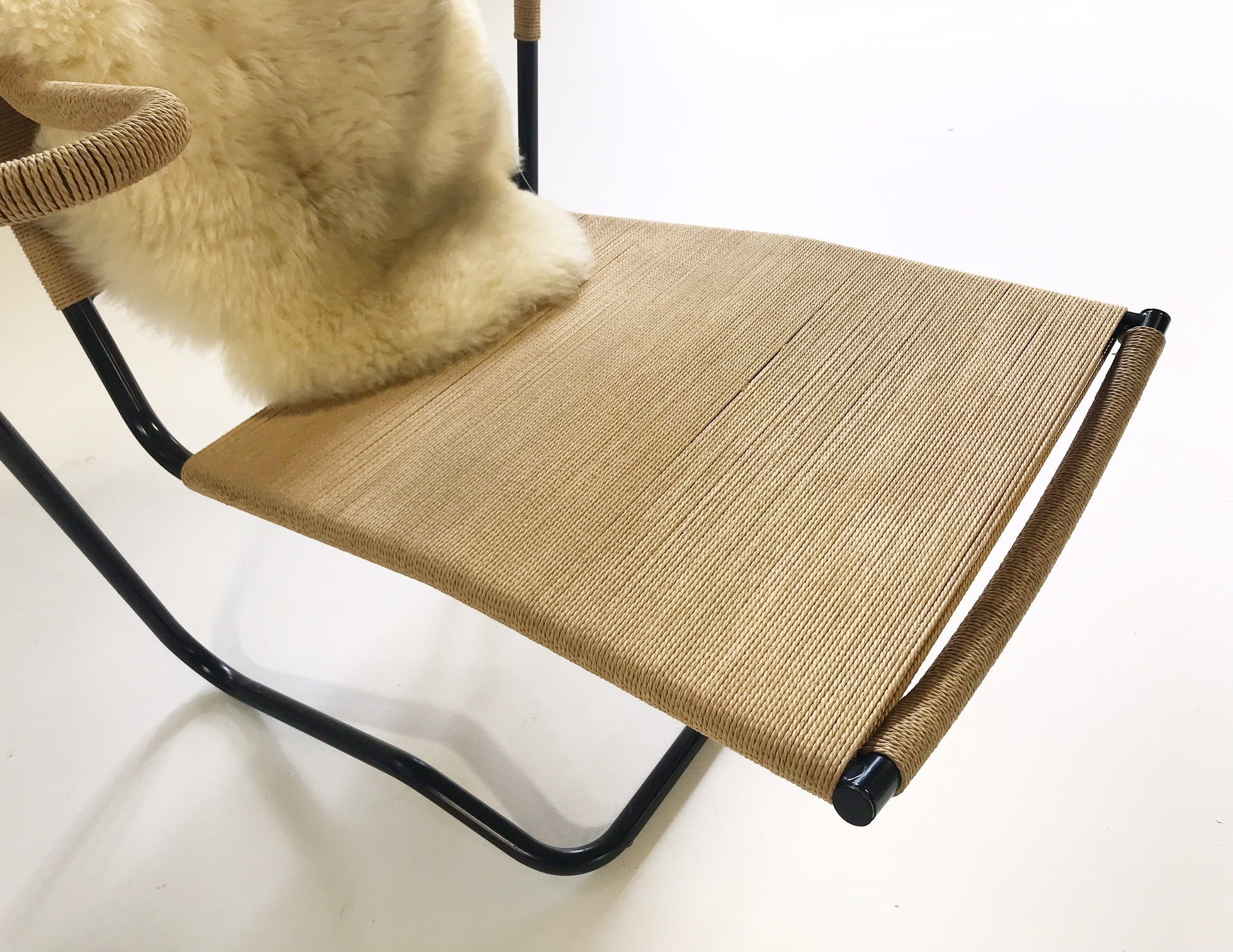 Model 2750 Lounge Chair with Brazilian Sheepskin - FORSYTH