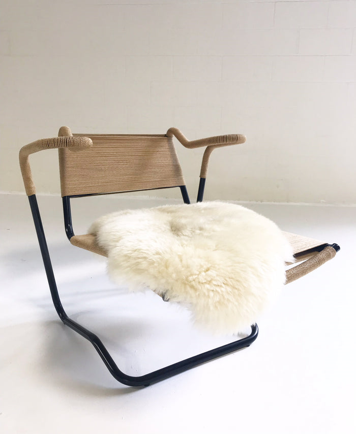 Dan Johnson for California Living Model 2750 Lounge Chair with Brazilian Sheepskin - FORSYTH