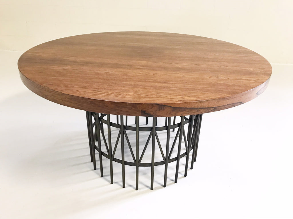 Milo Baughman for Thayer Coggin Rosewood and Brass Coffee Table - FORSYTH