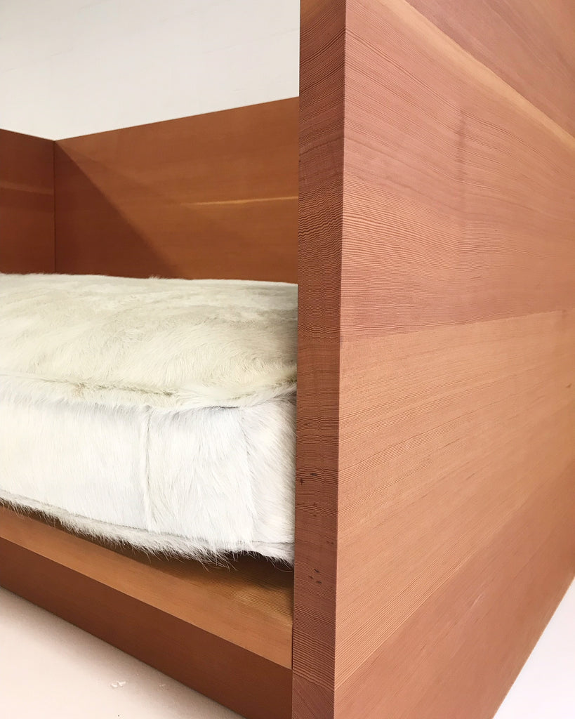Donald Judd Daybed Sofa with Custom Brazilian Cowhide Feather-Filled Mattress - FORSYTH