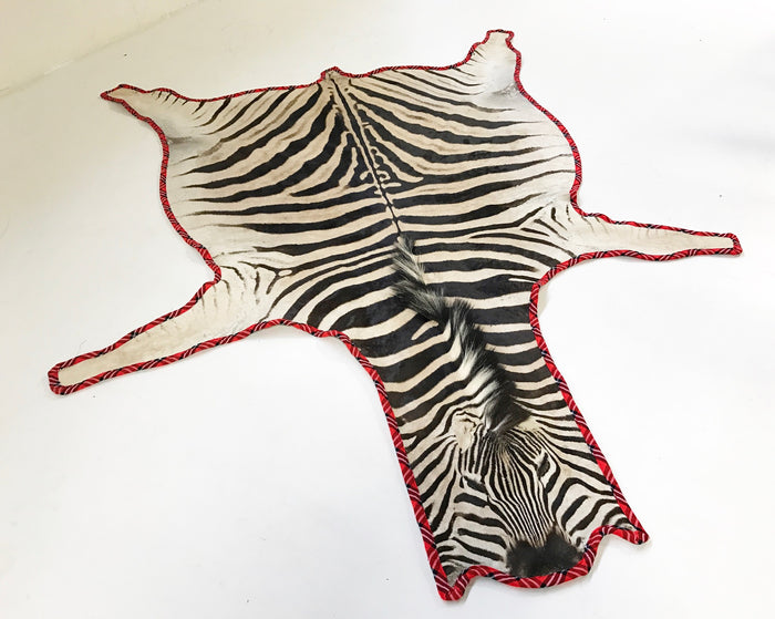 THE OUT OF AFRICA ZEBRA HIDE RUG