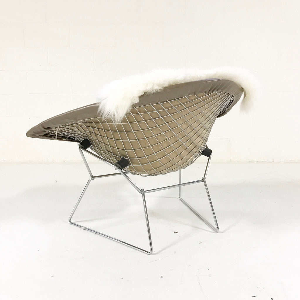 Harry Bertoia for Knoll Diamond Chair with Leather Cover & Sheepskin - FORSYTH
