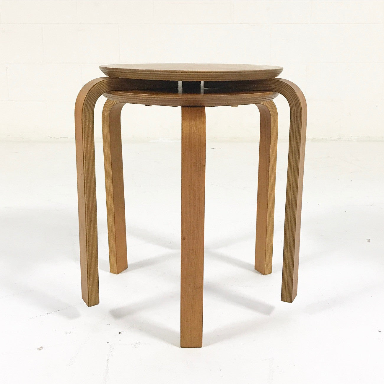 Vintage Danish Stacking Side Tables - Pair - FORSYTH