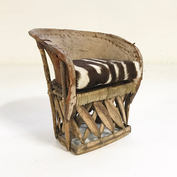 Mini Equipale Chair with Zebra Hide Cushion - FORSYTH