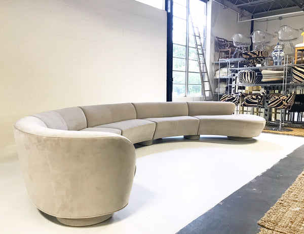 Cloud Sofa in Loro Piana Grey Velvet - FORSYTH