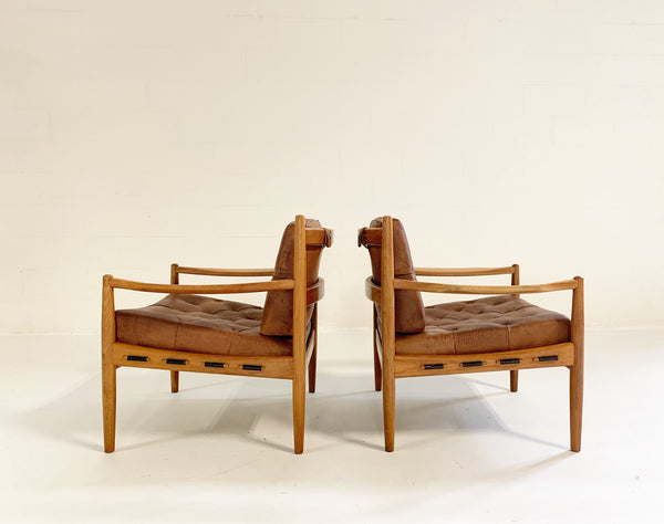 Lacko Lounge Chairs in Buffalo Hide - FORSYTH