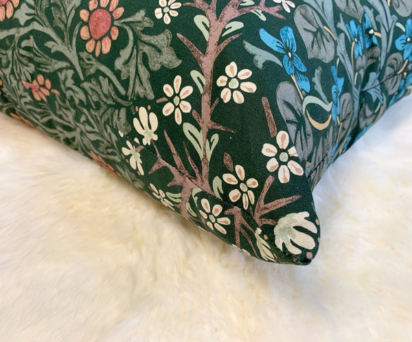 "William Morris Blackthorn Pillow, 20"" - FORSYTH"