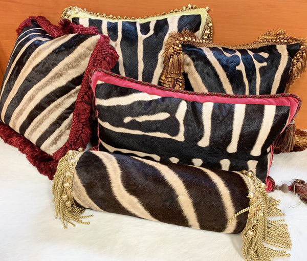 "One of a Kind Zebra Pillow,  26"" - FORSYTH"