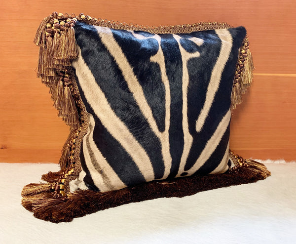 "One of a Kind Zebra Pillow,  19"" - FORSYTH"