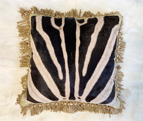 "One of a Kind Zebra Pillow,  20"" - FORSYTH"