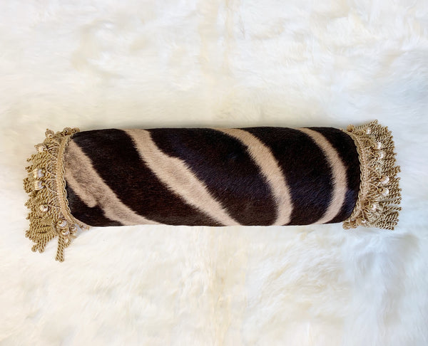 "One of a Kind Zebra Pillow,  24.5"" - FORSYTH"