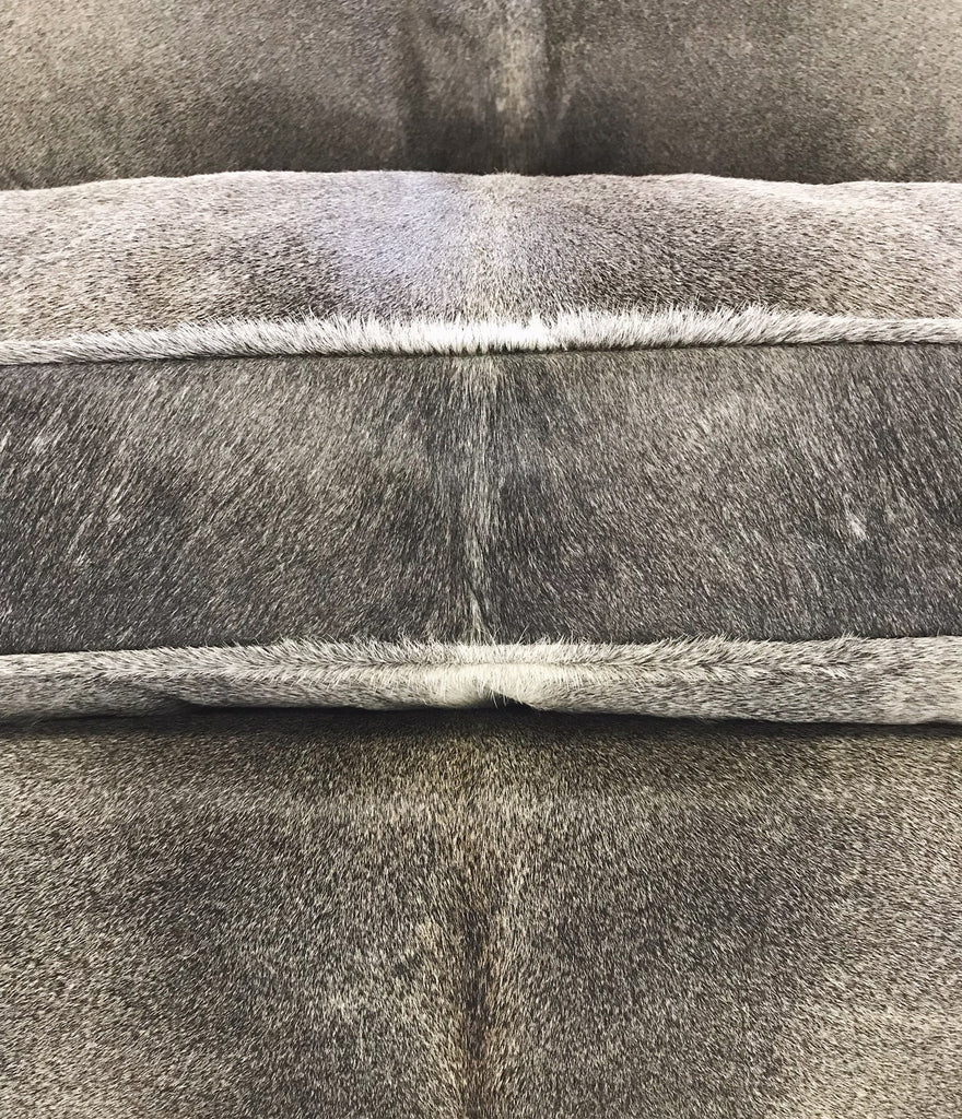 Modern Loveseat Sofa Restored and Reupholstered in Brazilian Cowhide - FORSYTH
