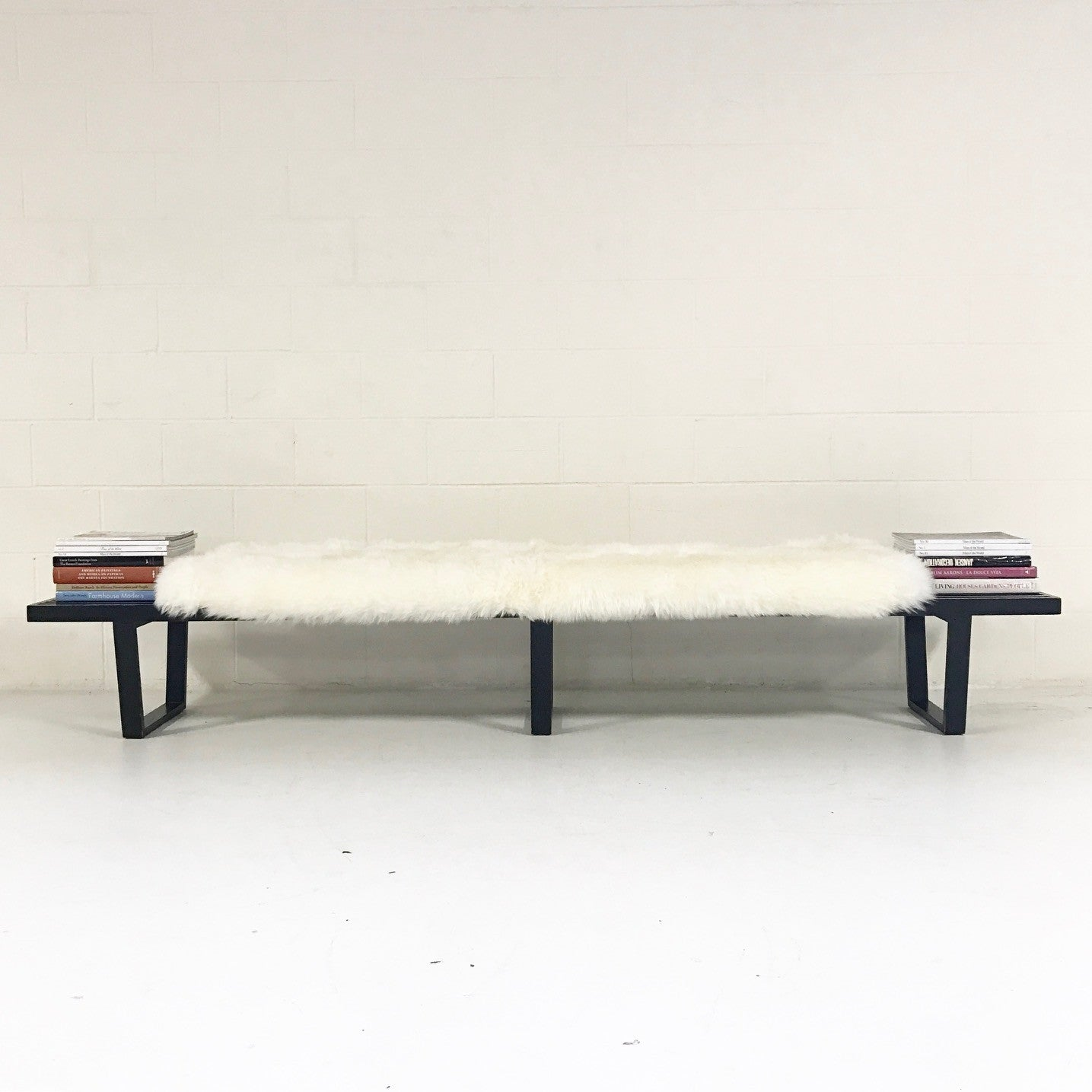 Model 4693 Platform Bench with Sheepskin Cushion - FORSYTH