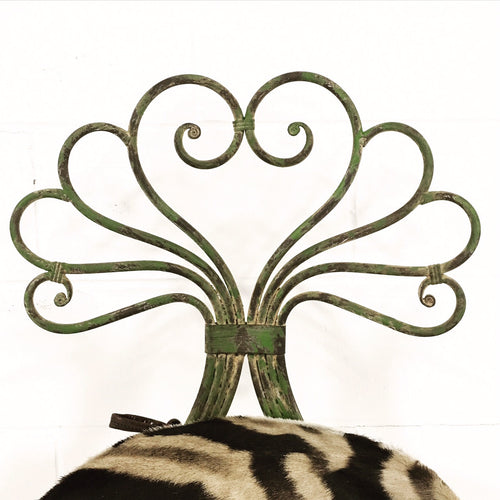French Garden Chair with Zebra Cushion - FORSYTH