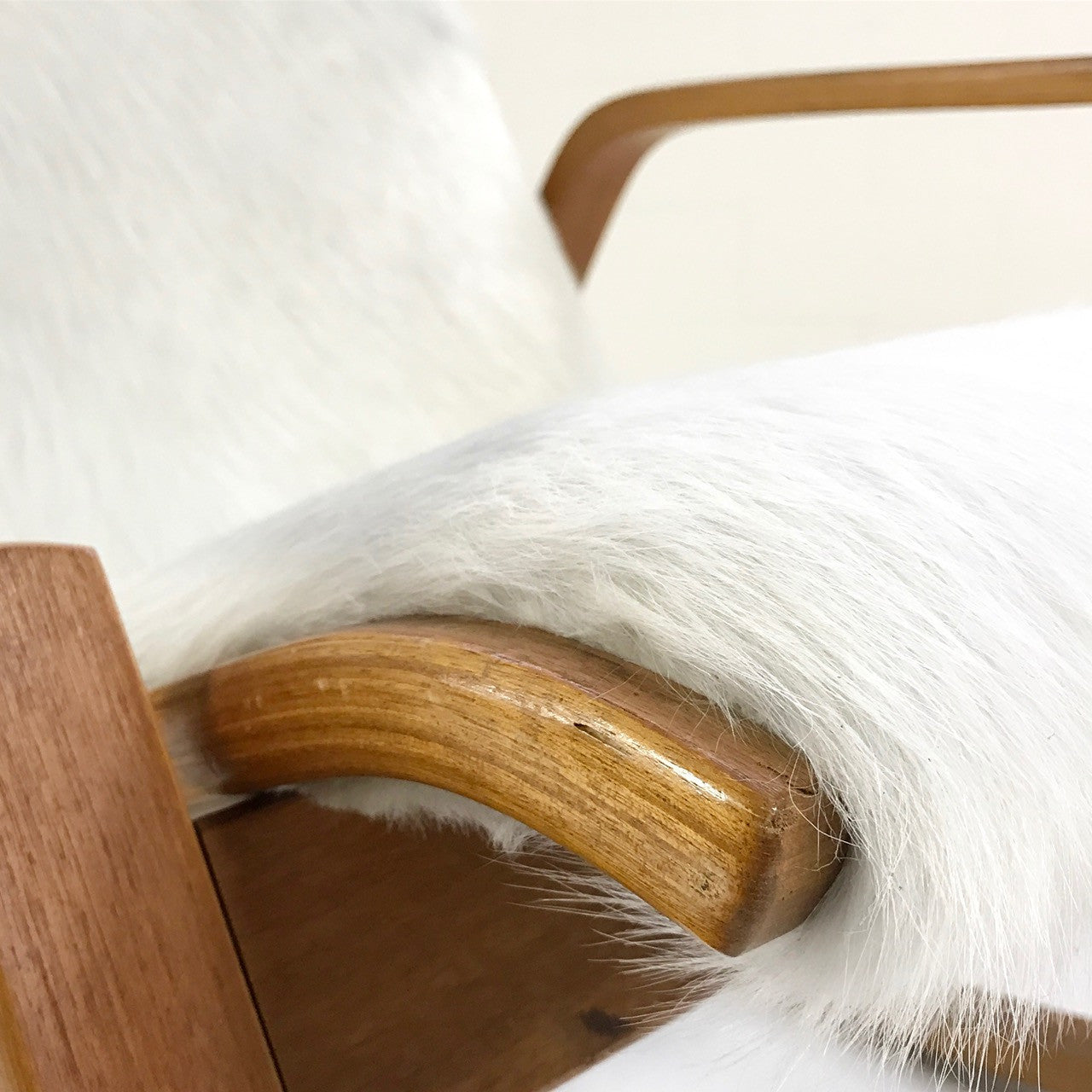 Danish Modern Rocking Chair in Brazilian Cowhide - FORSYTH