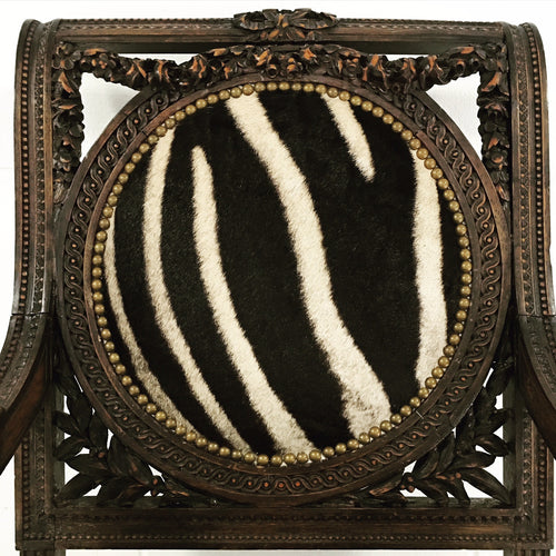 French Chair in Zebra Hide - FORSYTH