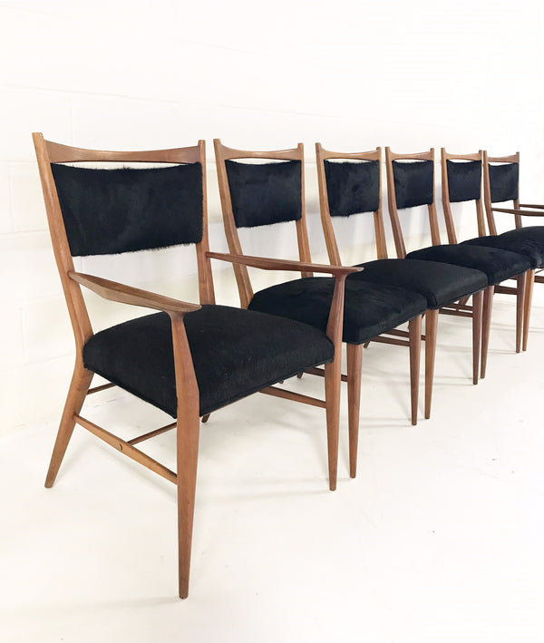Dining Chairs in Brazilian Cowhide, set of 6 - FORSYTH