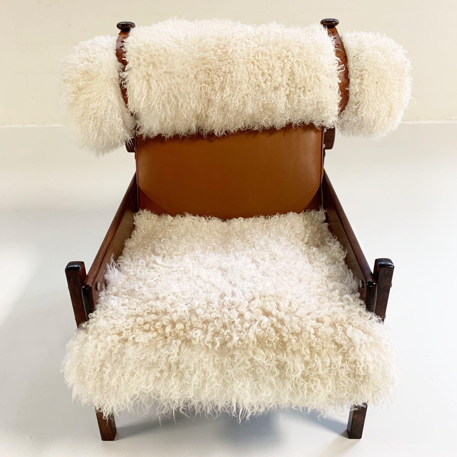 Jacaranda Tonico Chair in Gotland Sheepskin and Loro Piana Leather - FORSYTH