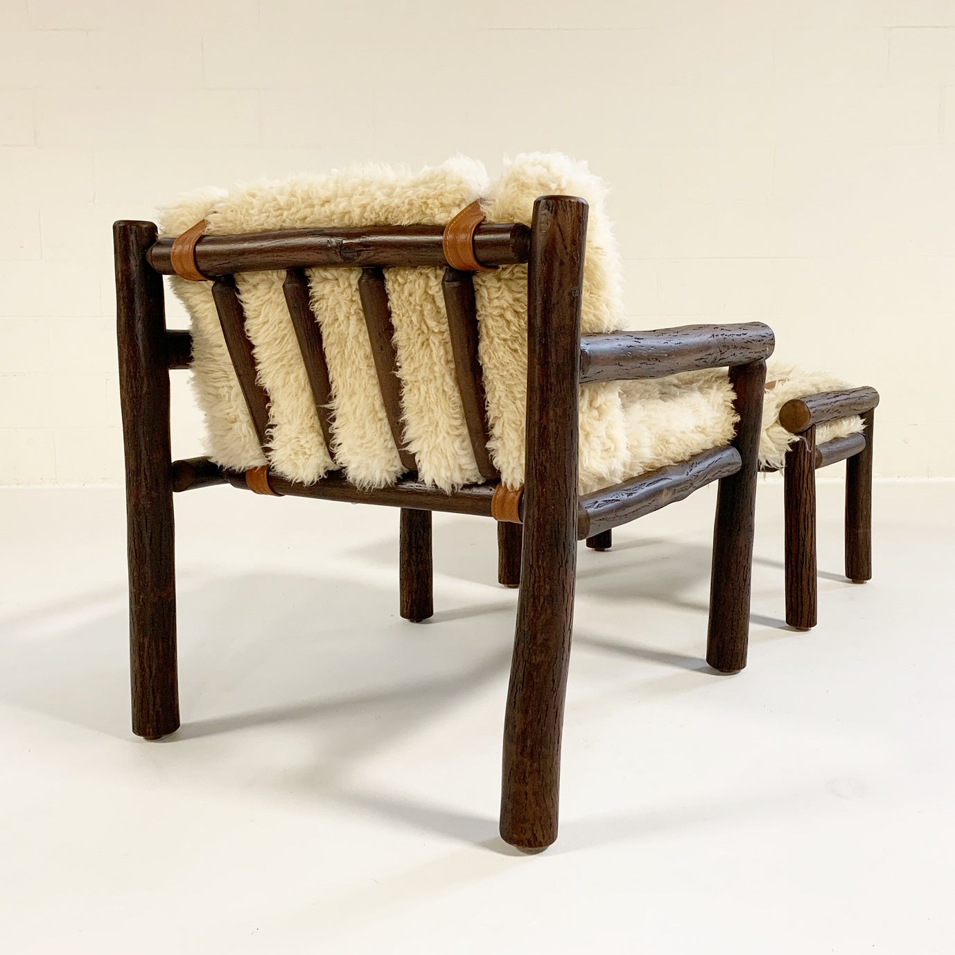 Butte Chair and Ottoman with Sheepskin Cushions - FORSYTH