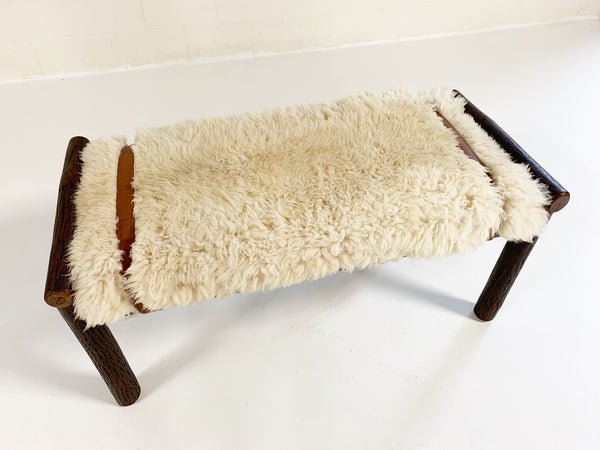 Butte Bench with Sheepskin Cushion - FORSYTH