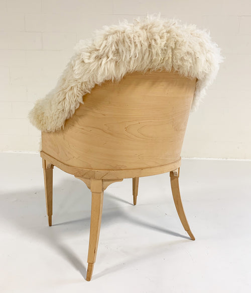 Barrel Chair in California Sheepskin - FORSYTH