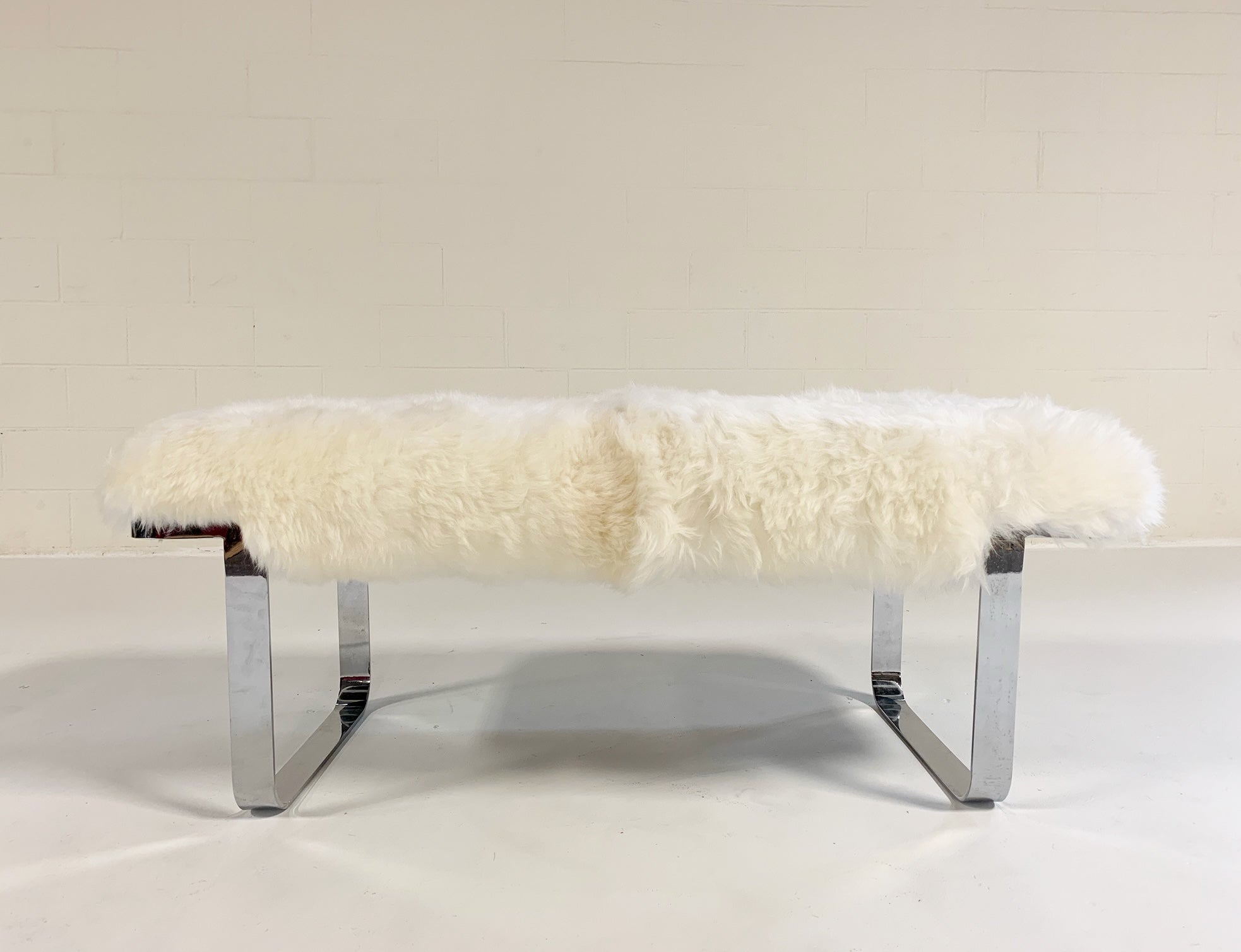 Chrome Bench in Brazilian Sheepskin - FORSYTH