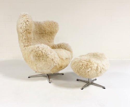 Egg Chair and Ottoman in California Sheepskin - FORSYTH