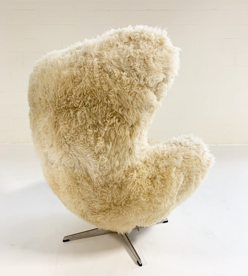 Bespoke Egg Chair and Ottoman in California Sheepskin - FORSYTH