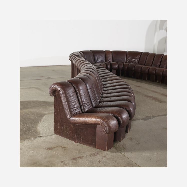 De Sede Monumental DS-600 Organic Leather Sofa