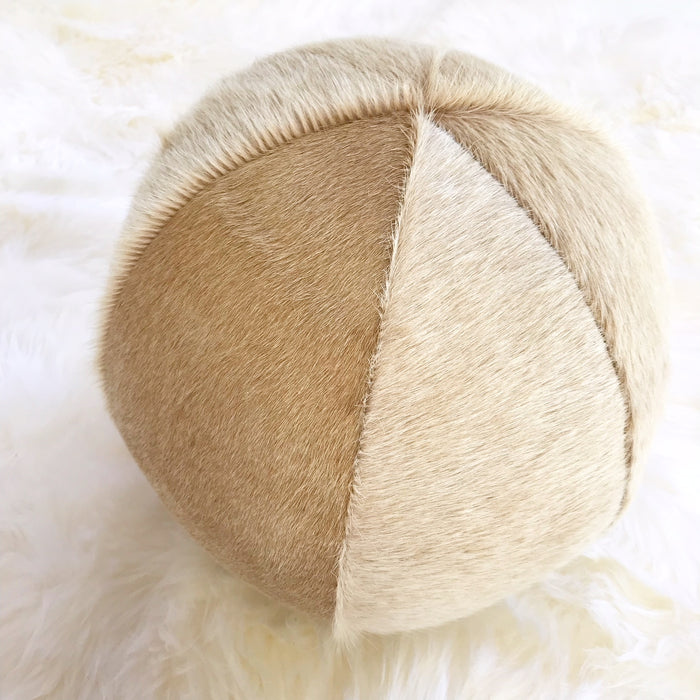 "Palomino Cowhide Ball Pillow 12"" - FORSYTH"