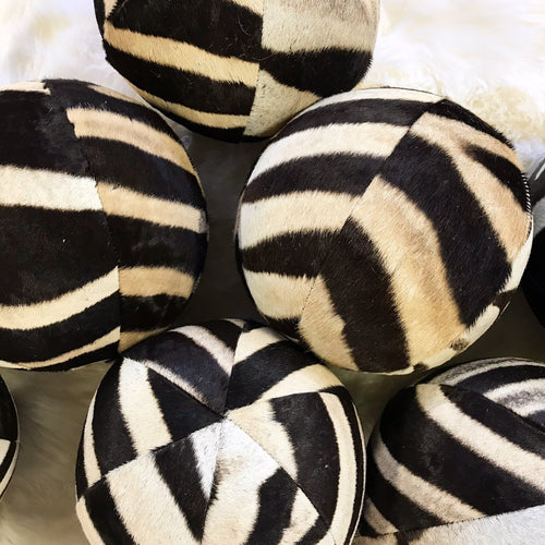 "Zebra Ball Pillow, 12"" - FORSYTH"