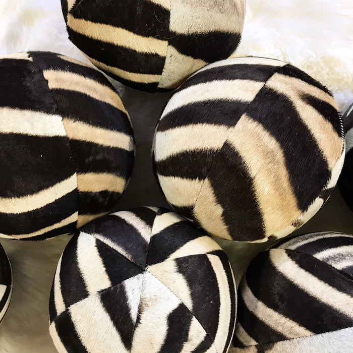 "Zebra Ball Pillow 12"" - FORSYTH"