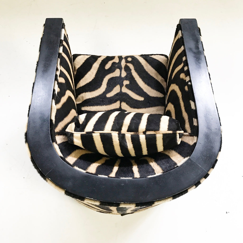 Paul Frankl Lounge Chair in Zebra Hide