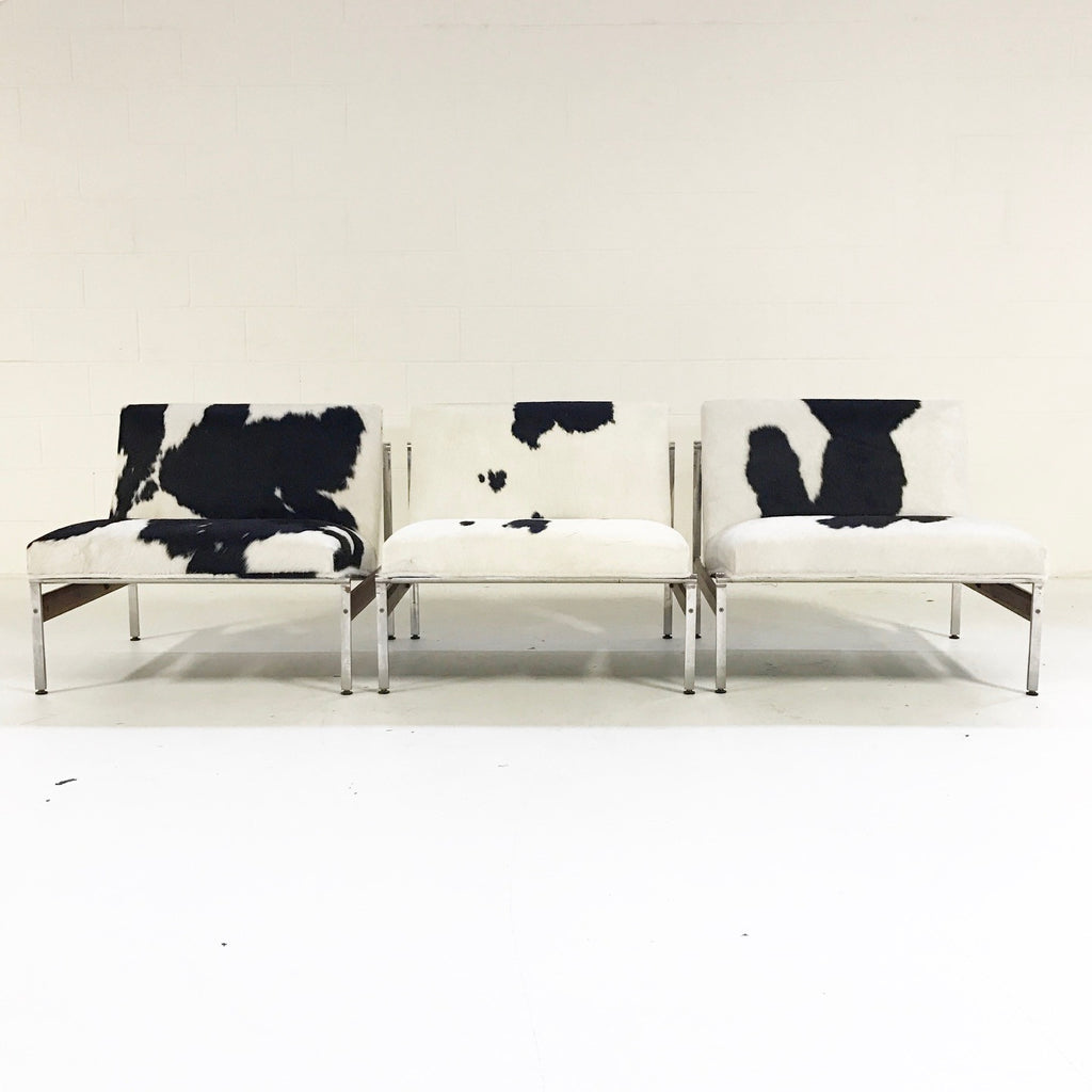 Glenn of California Lounge Chairs in Brazilian Cowhide - A Trio