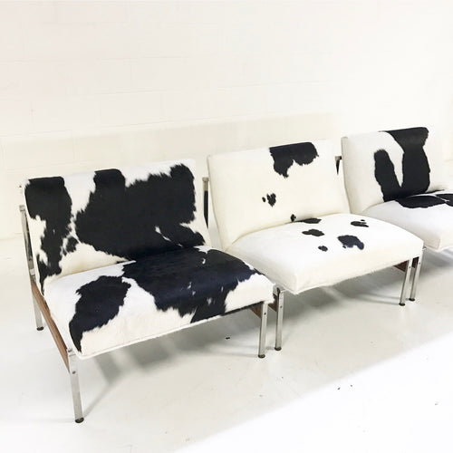 Lounge Chairs in Brazilian Cowhide, set of 3 - FORSYTH