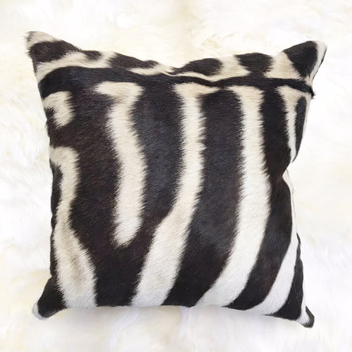 "Zebra Pillow, 18"" - FORSYTH"