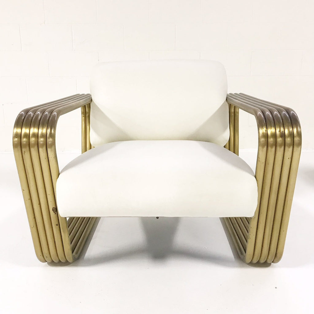 Vintage c. 1975 Jay Spectre Lounge Chair with New Zealand Sheepskin Throw - FORSYTH