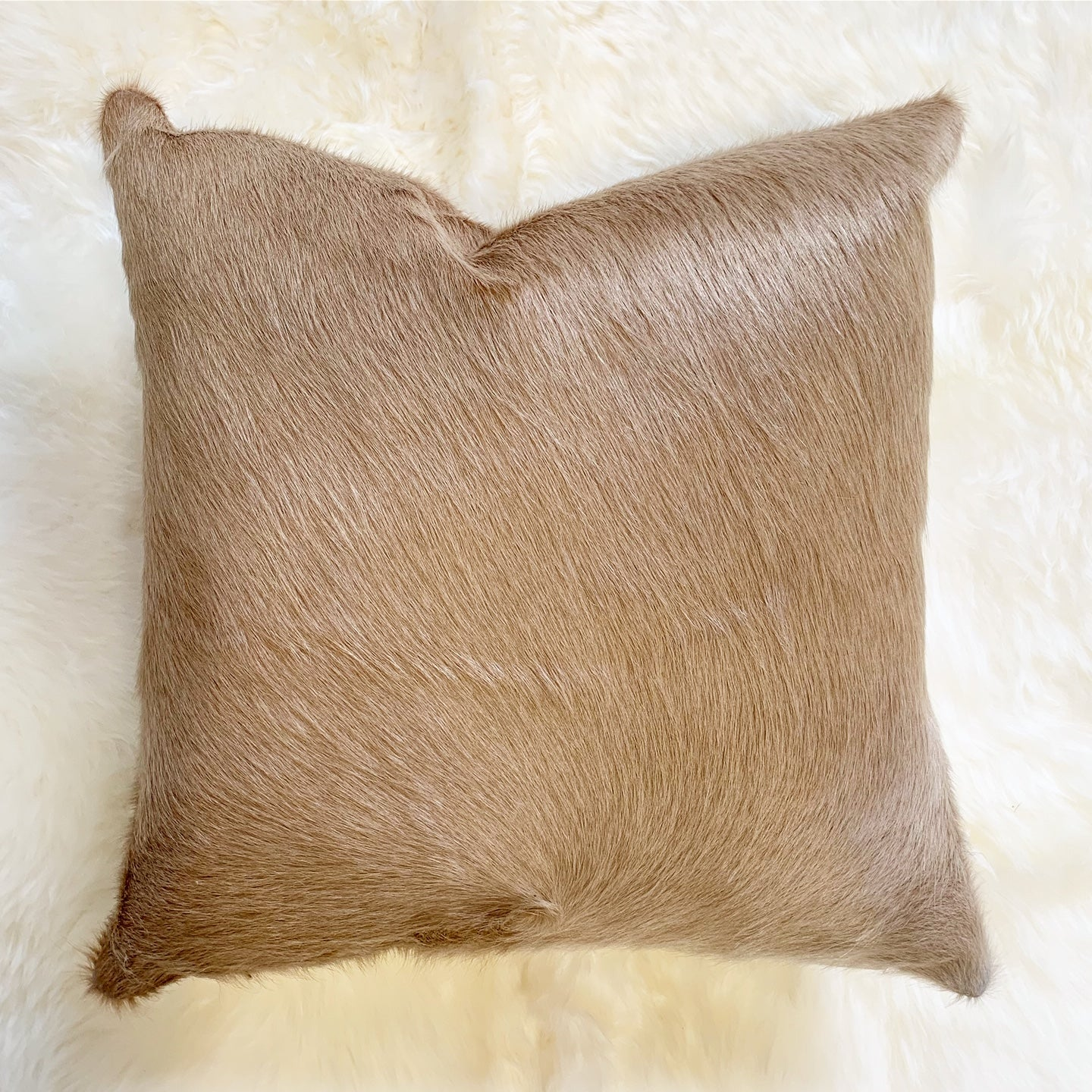 "Palomino Cowhide Pillow, 18"" - FORSYTH"
