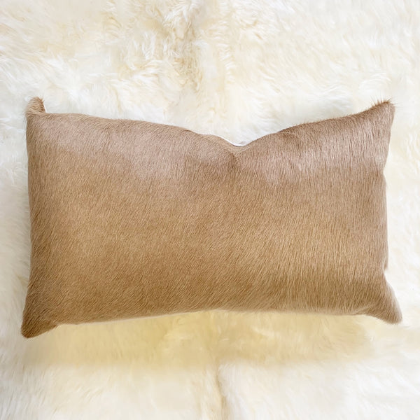 "Palomino Cowhide Pillow, 21x13"" - FORSYTH"