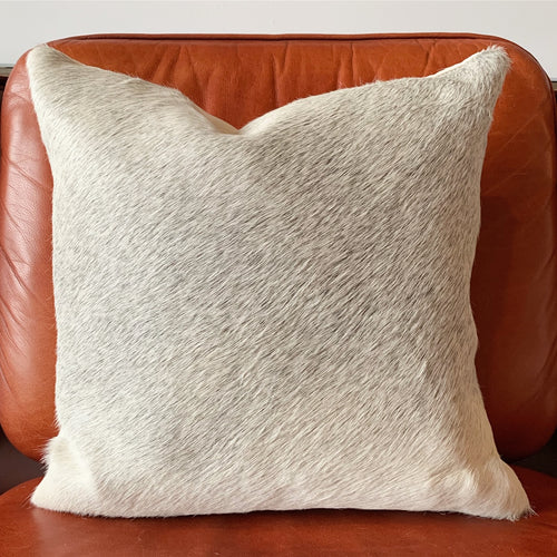 "Salt and Pepper Cowhide Pillow, 18"" - FORSYTH"