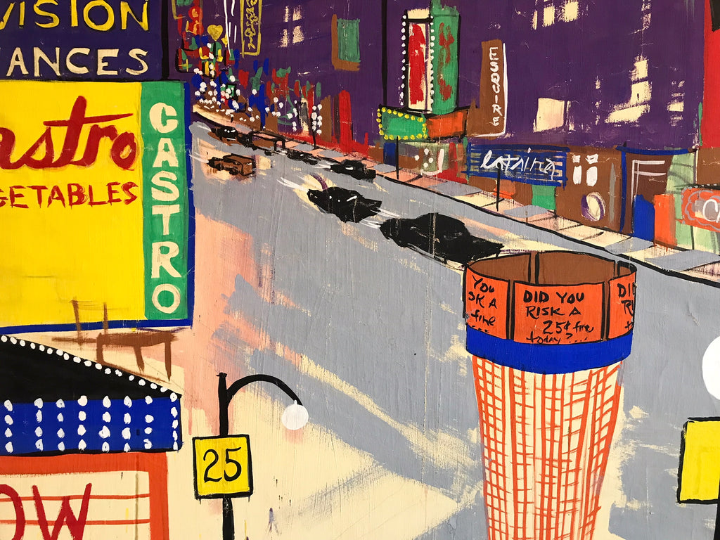 "Times Square, 1967. 112.5x51.5"" - FORSYTH"
