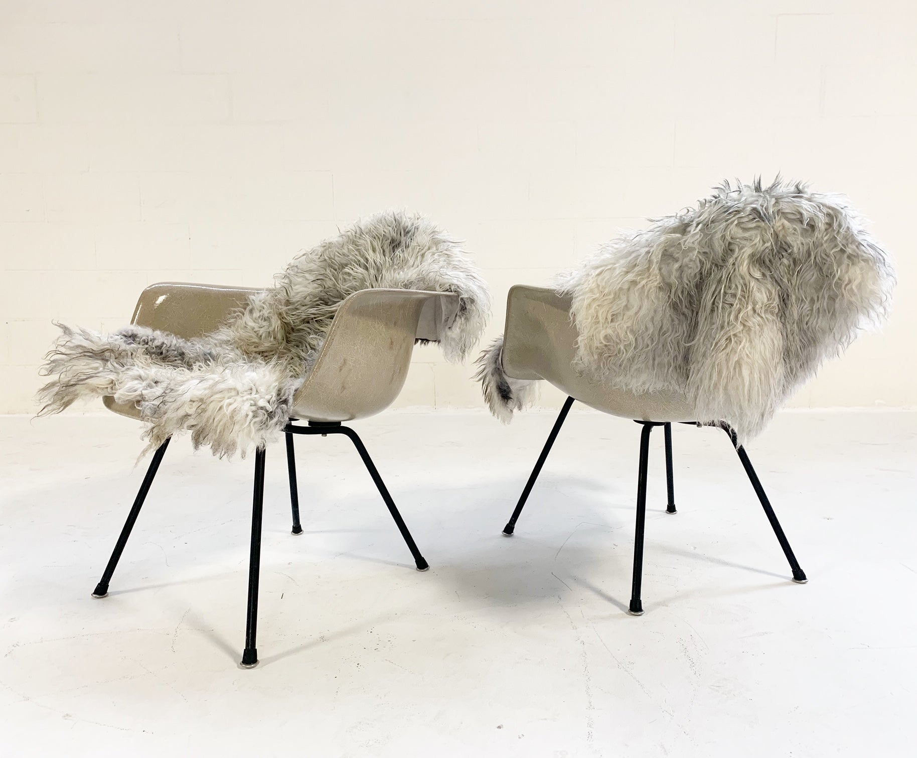 DAX Chairs with Sheepskins, Pair - FORSYTH