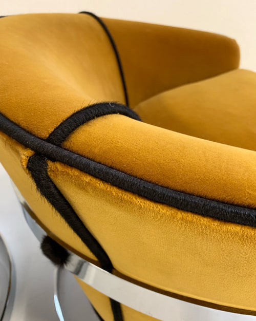 Lounge Chairs in Loro Piana Velvet - FORSYTH